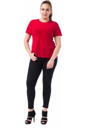 Francesca Ettore SF-1236 Kırmızı Büyük Beden Bayan Tshirt