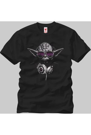 Crazy Star Wars Yoda DJ Erkek T-Shirt