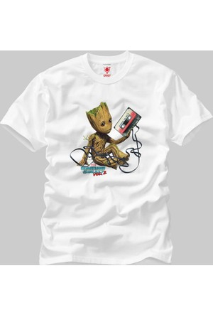 Crazy Guardians Of The Galaxy Vol 2 Groot With Tape Erkek T-Shirt