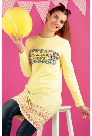 Dide Summer Life Tunik D216070 Sarı