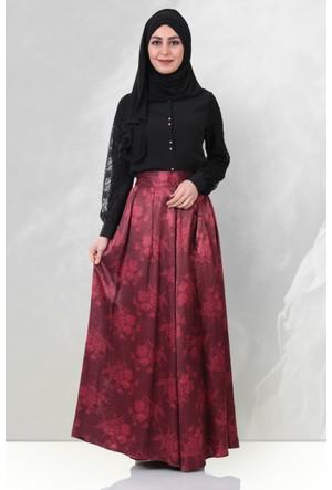 Ginza Wear Saten Abiye Etek 1705 Kırmızı