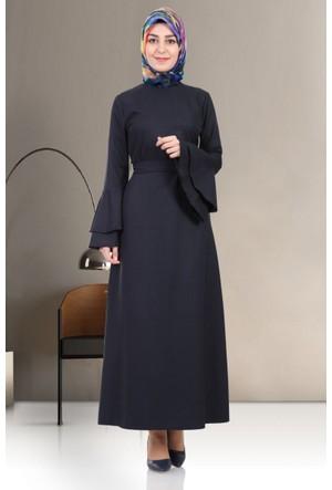 Hulle Mevsimlik Volanlı Elbise 104 Lacivert