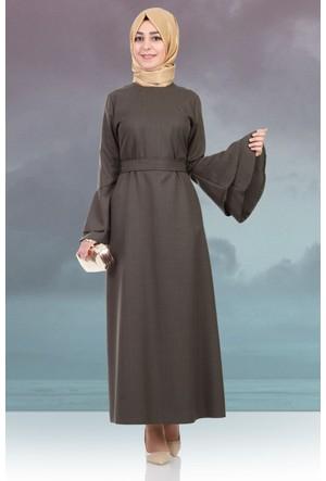 Hulle Mevsimlik Volanlı Elbise 104 Yeşil