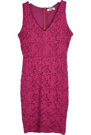 Ayriss Kadın 6261 V Yaka Casual Elbise 17-1