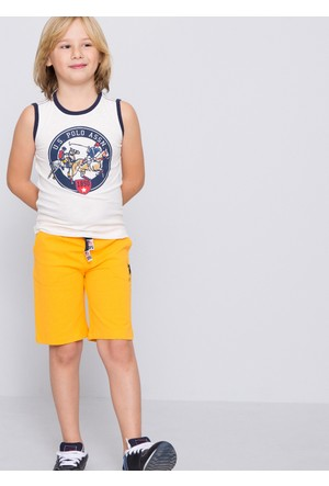 U.S. Polo Assn. Erkek Çocuk Gunderiy7 Şort Sarı