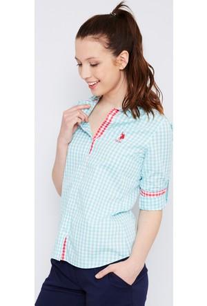 U.S. Polo Assn. Kadın Burbank Gömlek Mint