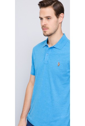 U.S. Polo Assn. Erkek Apsel Polo T-Shirt Mavi