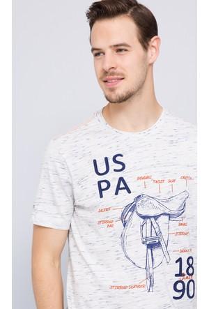 U.S. Polo Assn. Erkek Omar T-Shirt Bej