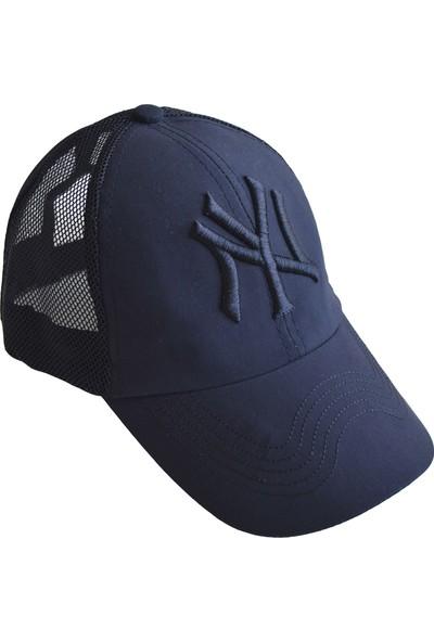 Outlet Çarşım Erkek Ny Nakışlı Fileli Cap Şapka