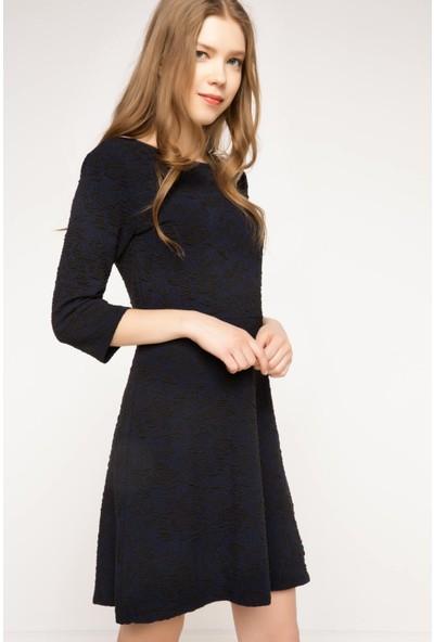 DeFacto Kadın Kısa Elbise Lacivert