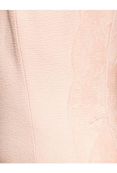 Koton Kadın Tül Detaylı Elbise Pudra