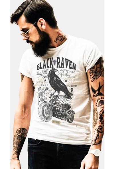 The Chalcedon Black Raven Original Merchant Erkek Tshirt