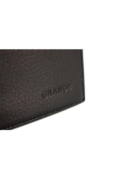 Grande Gd 1546-S Grande Siyah Hakiki Deri Kartlık - Cüzdan