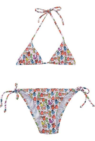 Slipstop Funny Cats Kız Çocuk Bikini