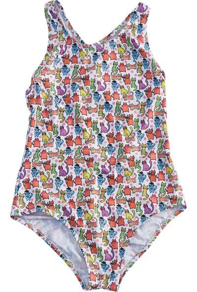 Slipstop Funny Cats Kız Çocuk Mayo