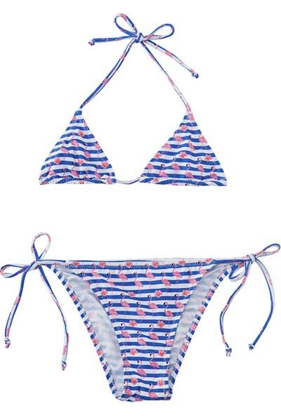 Slipstop Stripe Kız Çocuk Bikini