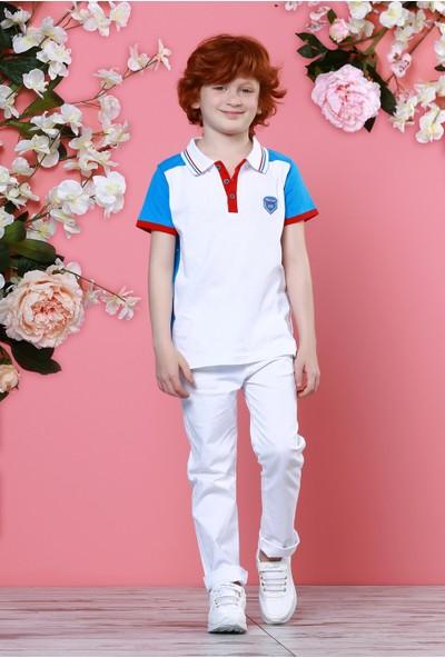 Zeyland Erkek Çocuk Beyaz Polo Yaka T-Shirt - 71M3DRF54