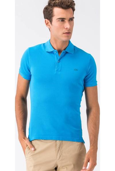 Lacoste Mavi Kısa Kollu Erkek Polo Yaka T-Shirt PH0740 40T