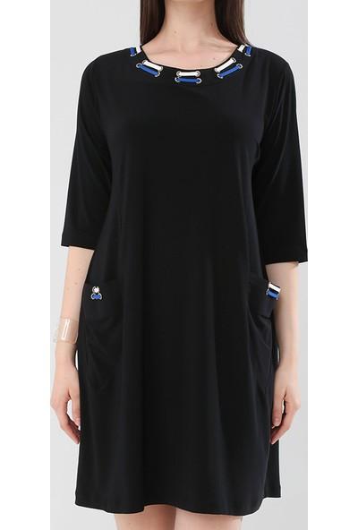 Lir Kadın Elbise Saks 1263