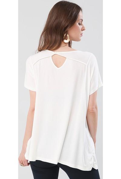 Lir Kadın Bluz Ekru 2140