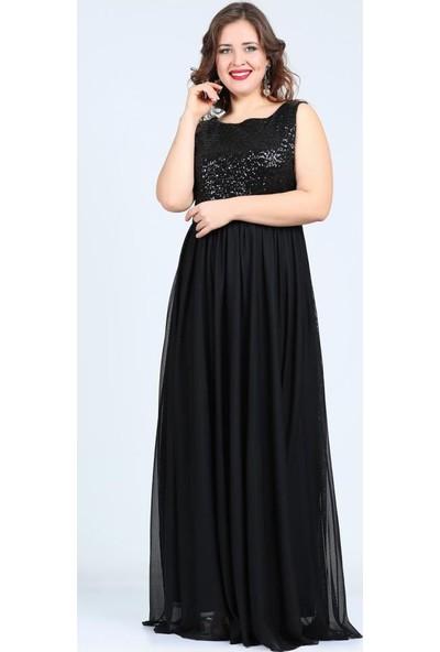 Angelino Butik Kl7885 Siyah Abiye Elbise