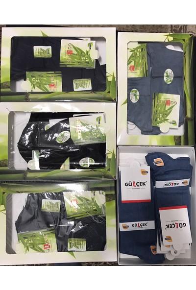Gülçek Çorap Erkek 12'li Paket %95 Bambu Çorap