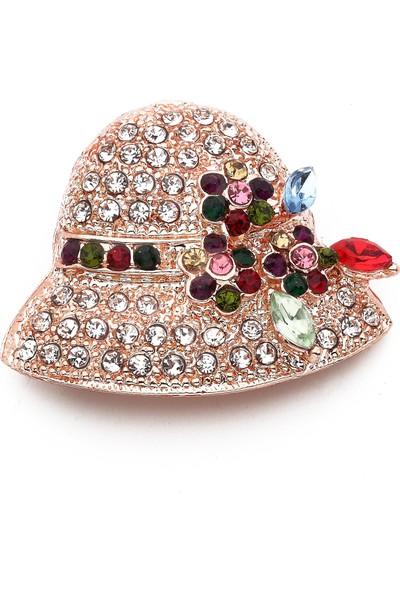 Modex Rose Şapka Broş