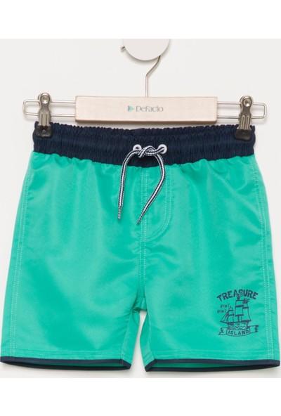 DeFacto Erkek Çocuk Baskılı Yüzme Şortu Yeşil