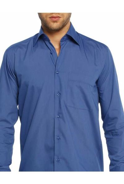 Dicotto Saks Klasik Kesim Uzun Kol Düz Renk Erkek Gömlek - 150-28