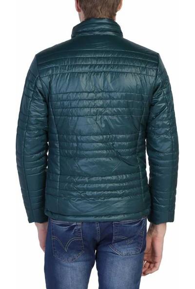 Dynamo Yeşil Slim Fit Spor Kışlık Erkek Şişme Mont - 3625-Yeşil