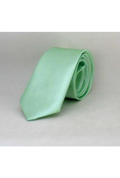 Gaffysu Yeşili Çocuk Boy Düz Renk Saten Kravat - Ck-16
