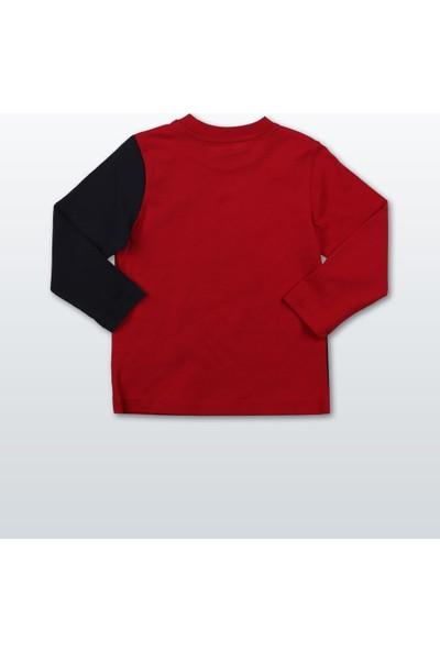 Wonder Kids Erkek Toddler Uzun Kollu T-Shirt WK16W4600-Kırmızı
