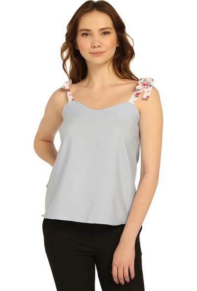 DM Çiçek Desen Askılı Bluz