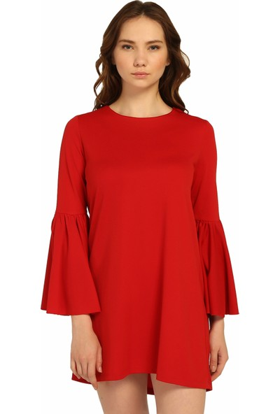 DM Kolları Pileli Elbise