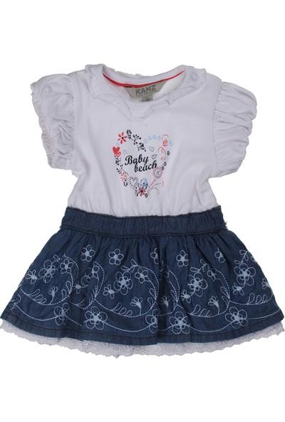 Kanz Kız Çocuk 151-2078 Kısa Kol Elbise