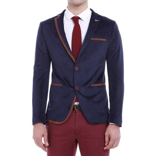 Wss Wessi Yakası Biyeli Velvet Ceket
