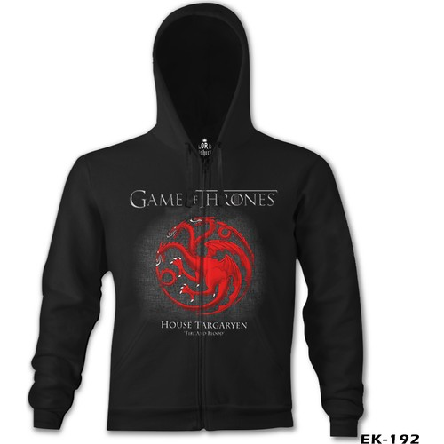 Lord T-Shirt Game Of Thrones - Fire And Blood Red