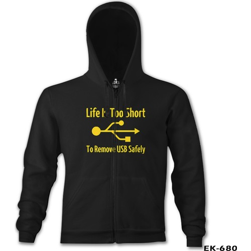 Lord T-Shirt Life İs Too Short To Remove Usb Safety