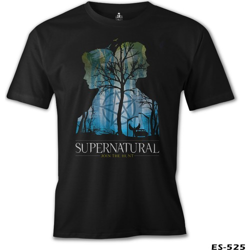 Lord T-Shirt Supernatural - Impala Erkek T-Shirt