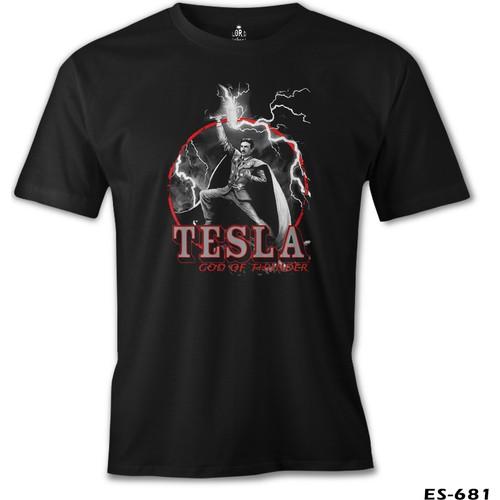 Lord T-Shirt Tesla - God Of Thunder Erkek T-Shirt