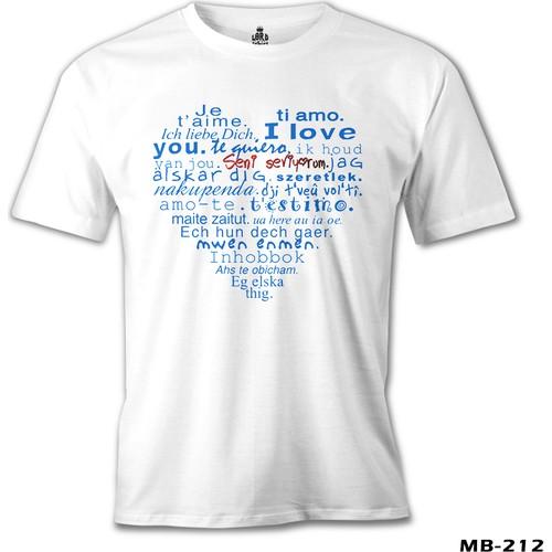 Lord T-Shirt Her Dilde Seni Seviyorum Erkek T-Shirt