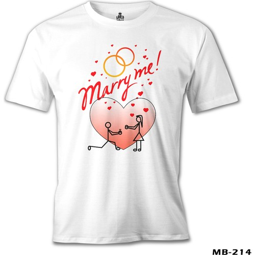 Lord T-Shirt Marry Me Erkek T-Shirt