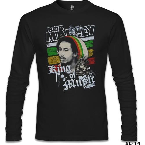 Lord T-Shirt Bob Marley - King Of Music Siyah Erkek T-Shirt