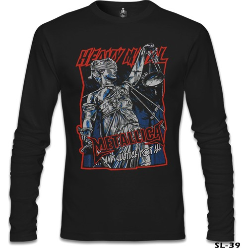 Lord T-Shirt Metallica - And Justice For All Siyah Erkek T-Shirt