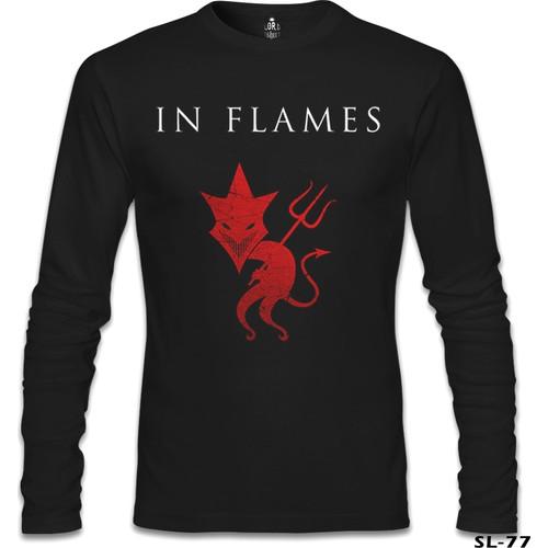 Lord T-Shirt In Flames Siyah Erkek T-Shirt