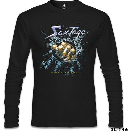 Lord T-Shirt Savatage - Power Of The Night Siyah Erkek T-Shirt