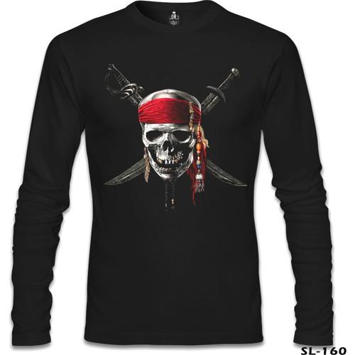 Lord T-Shirt Pirates Of Caribbean Skull Siyah Erkek T-Shirt