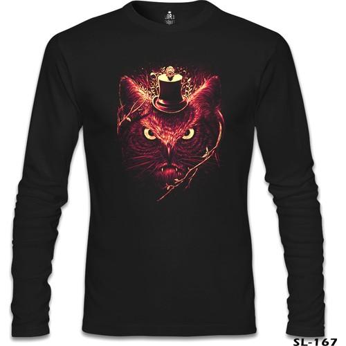 Lord Sweatshirt Angry Owl Siyah Erkek Sweatshirt