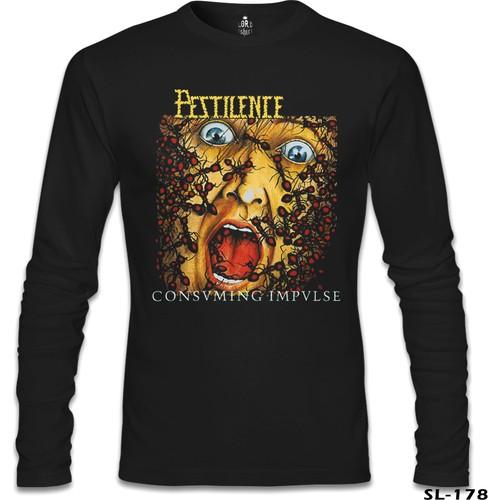 Lord Sweatshirt Pestilence - Consuming Impulse Siyah Erkek Sweatshirt