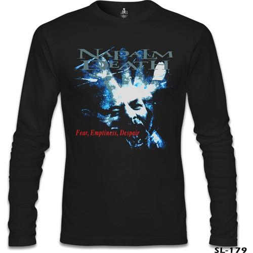Lord T-Shirt Napalm Death - Fear Emptiness Despair Siyah Erkek T-Shirt
